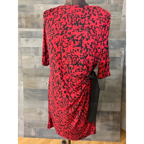 Just...Taylor Dresses & Skirts - JUST...TAYLOR red cheetah dress black bow size 14